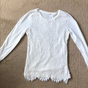 JCrew lace top
